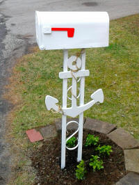 DIY nautical mailbox makeover