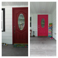 before and after painted front door