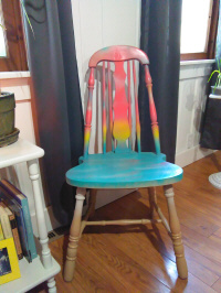 DIY repurposed upcycled wooden chair