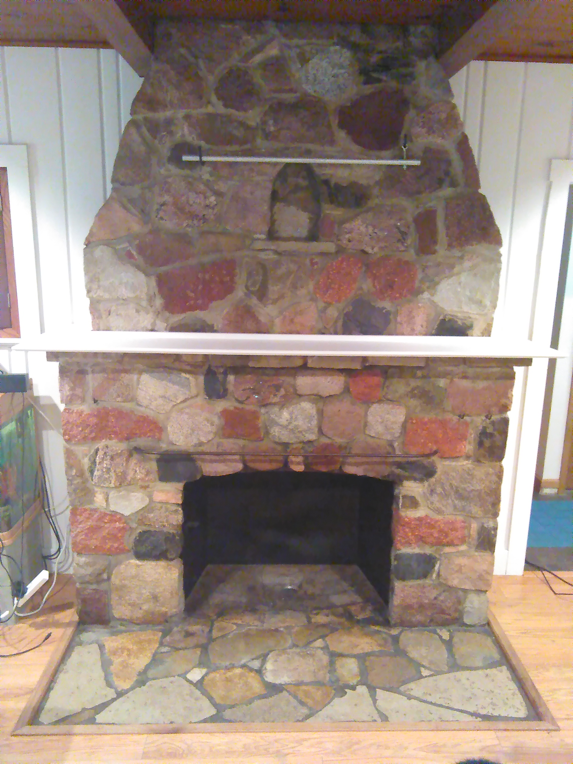 How To White Wash Your Stone Fireplace Crazy Diy Mom