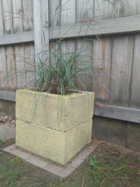 diy cinder block into a planter