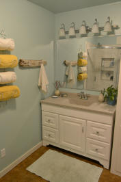 DIY small coastal bathroom remodel