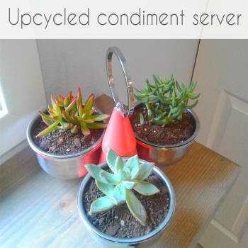 upcycled condiment server
