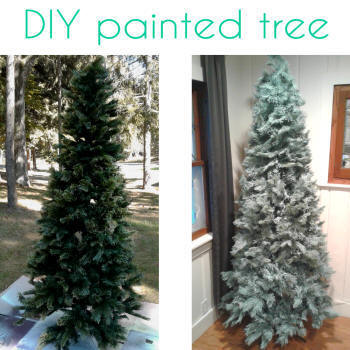 paint artificial tree