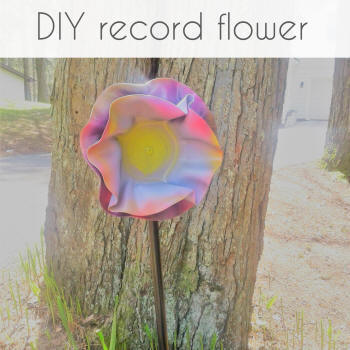 upcycle records into flowers