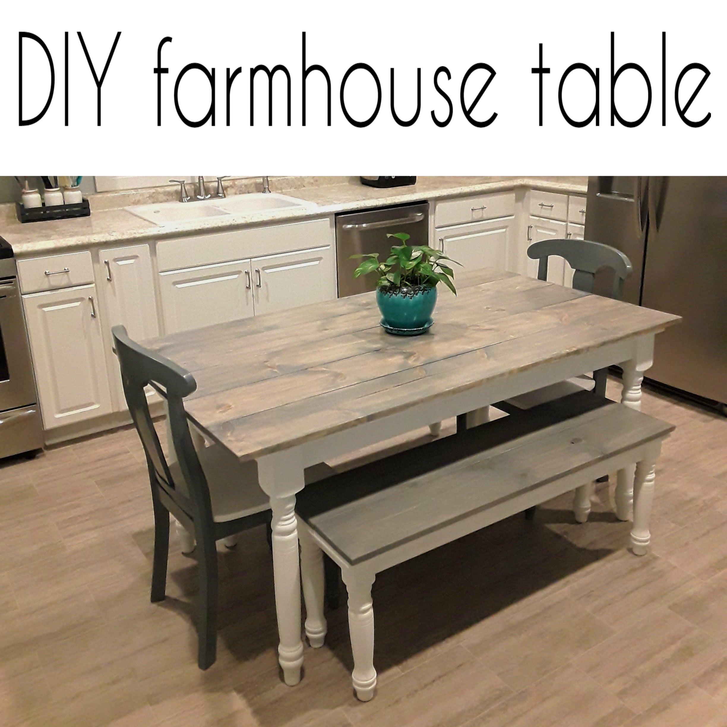 Farmhouse Kitchen Table Remodel Crazy Diy Mom